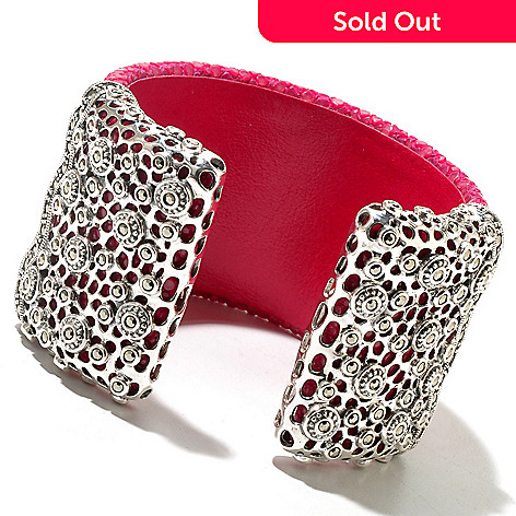 129-999 - Dallas Prince 6.5'' Sterling Silver & Stingray Bracelet Made w/ Swarovski® Marcasite