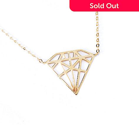 130-012 - Italian Designs with Stefano 14K Gold 18'' ''Diamante'' Necklace, 1.04 grams