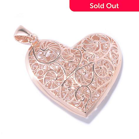 130-031 - Portofino Gold Embraced™ Filigree Heart Pendant