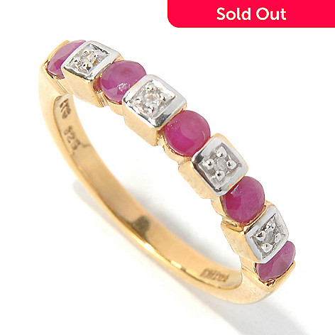 130-115 - NYC II™ Precious Gemstone & Diamond Band Ring