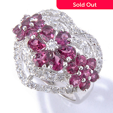 130-222 - NYC II® 3.32ctw Rhodolite & White Zircon Heart Ring