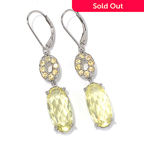 130-225 - NYC II Elongated Gemstone & Fancy Color Sapphire Drop Earrings
