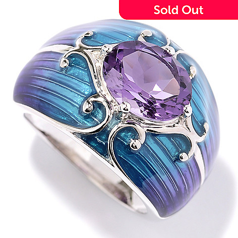 130-253 - NYC II® 1.90ctw Amethyst & Gradated Enamel Ring