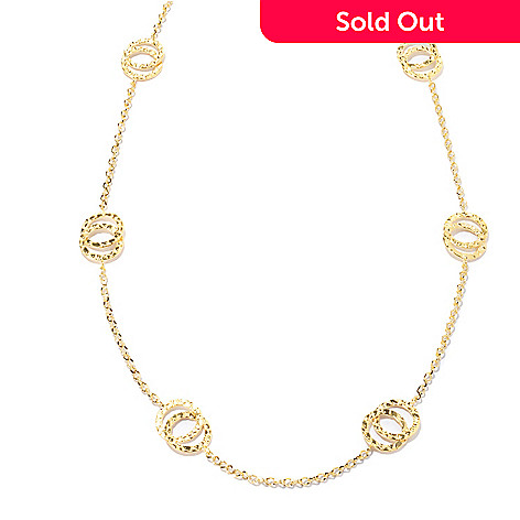 130-261 - Milano Luxe Gold Embraced™ 36'' Interlocking Circles Station Necklace