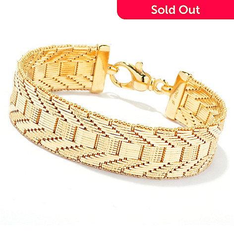 130-263 - Milano Luxe Gold Embraced™ 7.5'' Polished & Diamond Cut Riccio Bracelet
