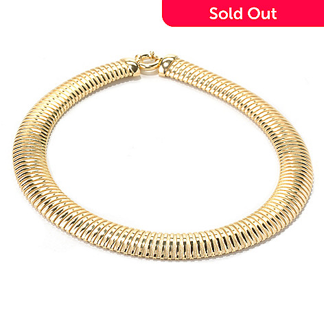 130-268 - Milano Luxe Gold Embraced™ 18'' Textured Omega Necklace