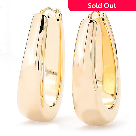 130-269 - Milano Luxe Gold Embraced™ High Polished Horseshoe Hoop Earrings