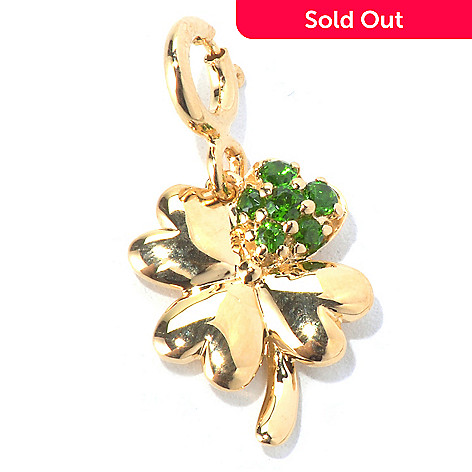 130-283 - NYC II Chrome Diopside Four-Leaf Clover Drop Charm