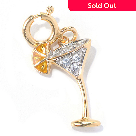 130-285 - NYC II™ White Zircon & Yellow Enamel Cocktail Charm