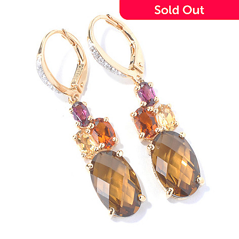 130-288 - NYC II® 1.5'' White Topaz & Multi Gemstone Drop Earrings w/ Lever Backs