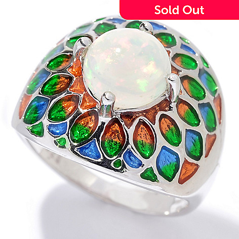130-379 - NYC II™ 8mm Ethiopian Opal & Gradated Enamel Ring