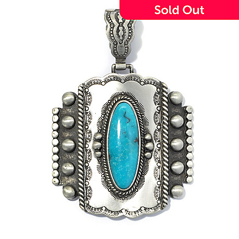 130-402 - Elements by Sarkash 30 x 10mm Oval Turquoise Oxidized & Textured Enhancer
