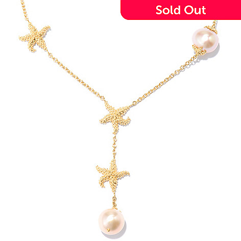 130-415 - Colette 20'' 9mm Freshwater Cultured Pearl Starfish Y-Drop Necklace