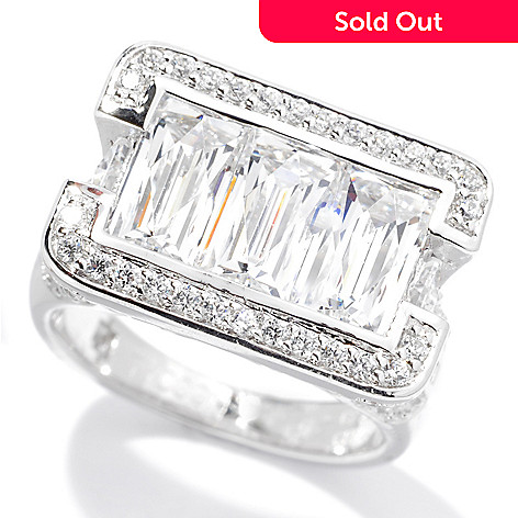 130-462 - TYCOON 4.69 DEW Platinum Embraced™ Simulated Diamond Fancy Shank Ring