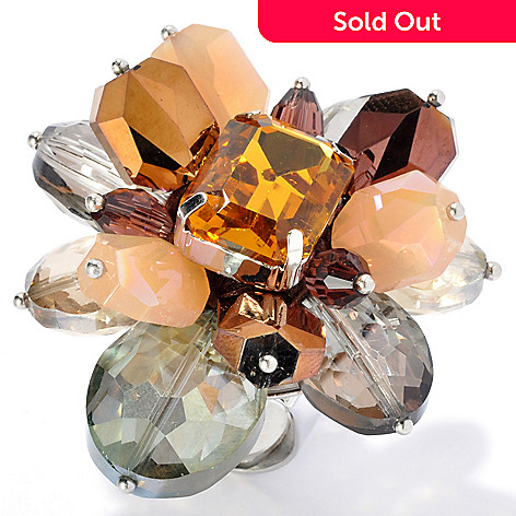 130-490 - RUSH Glass & Crystal Explosion Cluster Ring