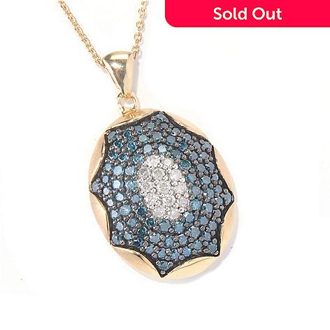 130-566 - Southport Diamonds Sterling Silver & 14K Vermeil 1.50ctw Diamond Pendant w/ Chain