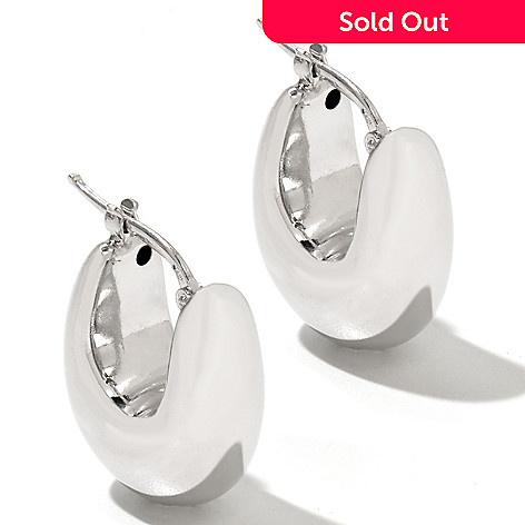 130-665 - Palatino™ Platinum Embraced™ High Polished Huggie Hoop Earrings