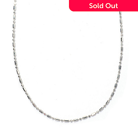 130-668 - Palatino™ Platinum Embraced™ 30'' Adjustable Dot & Dash Necklace