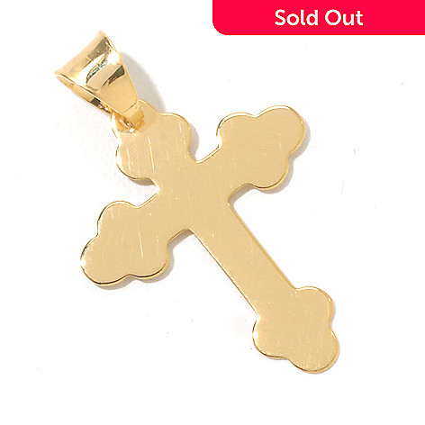 130-671 - Stefano Oro 14K Gold Fancy Cross Pendant