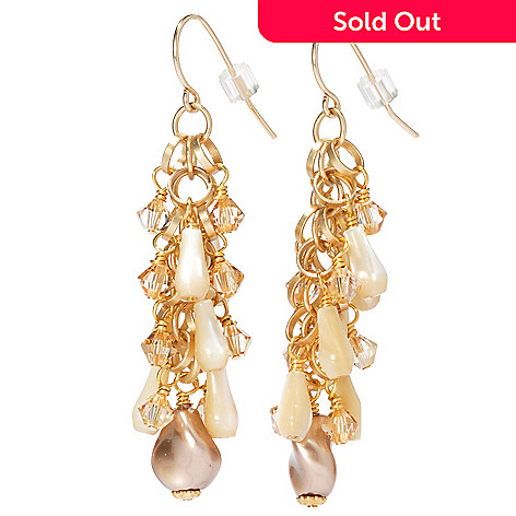 130-676 - mariechavez 2.25'' Cultured Pearl Dangle Earrings Made w/ Swarovski® Elements