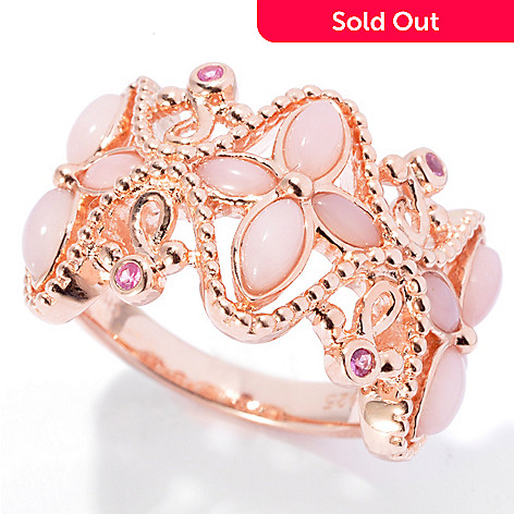 130-696 - NYC II® Pink Opal & Pink Sapphire Flower Design Ring