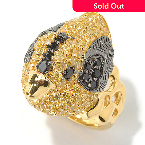 130-700 - Neda Behnam Gold Embraced™ 2.80 DEW Simulated Diamond Duck Ring