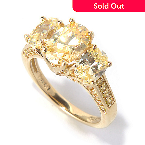 130-758 - Brilliante® Gold Embraced™ 3.43 DEW Simulated Diamond Canary Ring