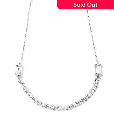 130-767 - Brilliante® Platinum Embraced™ 18'' 5.60 DEW Simulated Diamond Rondelle Necklace