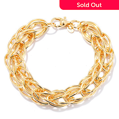 130-811 - Portofino Gold Embraced™ 8'' Crochet Chain Bracelet