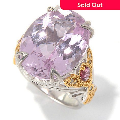 130-828 - The Vault from Gems en Vogue 22.32ctw Kunzite & Multi Gemstone Polished Ring