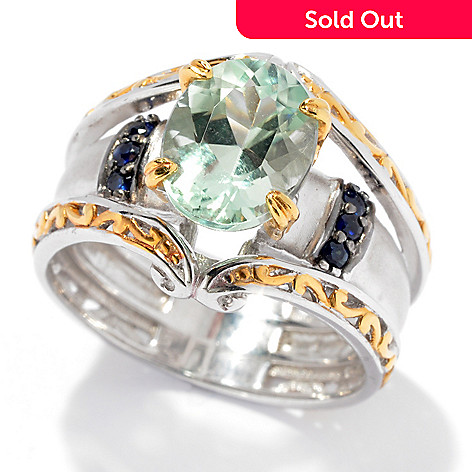 130-831 - The Vault from Gems en Vogue 2.68ctw Amblygonite & Sapphire Ring
