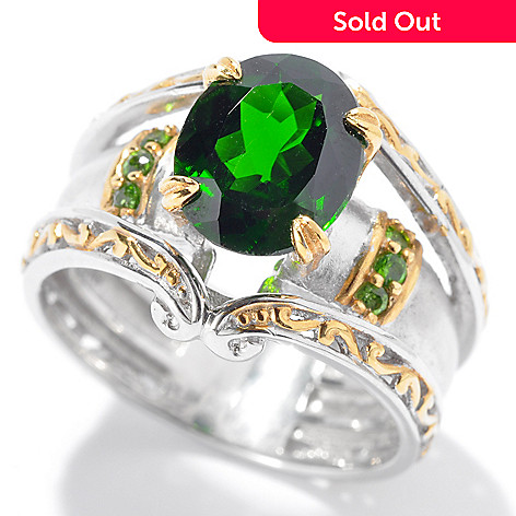 130-832 - The Vault from Gems en Vogue II 2.52ctw Chrome Diopside Matte Finished Ring