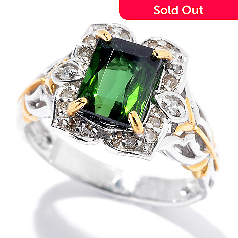130-833 - The Vault from Gems en Vogue 1.34ctw Bahia Green Tourmaline & Diamond Ring