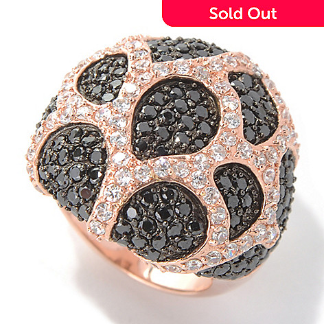 130-864 - Sonia Bitton Rose Gold Embraced™ 3.51 DEW Simulated Diamond Dome Ring