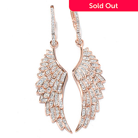 130-869 - Sonia Bitton 2.5'' 1.93 DEW Simulated Diamond Wing Drop Earrings