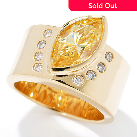 130-884 - Dare to Rare™ by Lucy Gold Embraced™ 1.78 DEW Marquise Simulated Diamond Ring