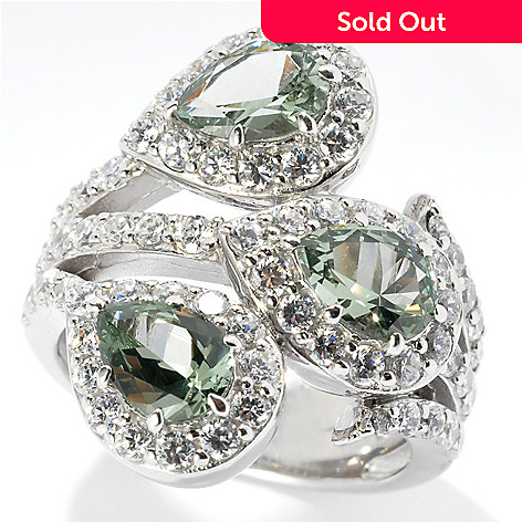 130-886 - Dare to Rare™ 3.57 DEW Platinum Embraced™ Simulated Diamond Halo Ring