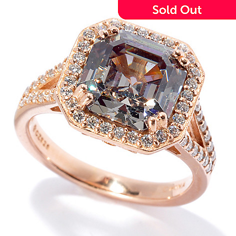 130-913 - Dare to Rare™ Embraced™ 5.56 DEW Simulated Diamond Halo Ring