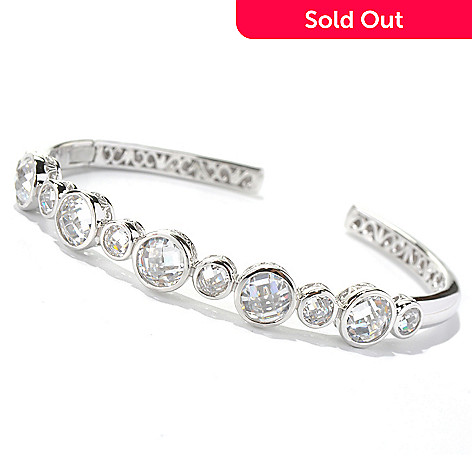 130-927 - Dare to Rare™ by Lucy 13.92 DEW Simulated Diamond Hinged Cuff Bracelet