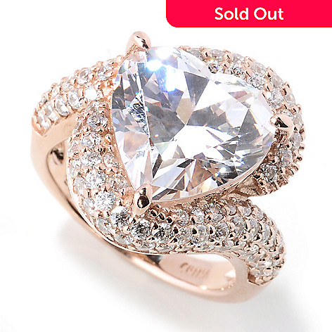 130-928 - Dare to Rare™ Rose Gold Embraced™ 6.97 DEW Simulated Diamond Heart Ring