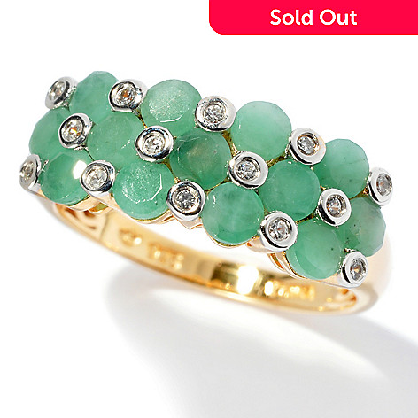 131-059 - NYC II™ 1.58ctw Sakota Emerald & White Zircon Band Ring