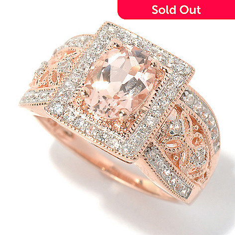 131-069 - NYC II™ 1.65ctw Morganite & White Zircon Ring