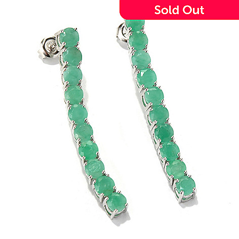 131-072 - NYC II™ 1.5'' 4.00ctw Sakota Emerald Elongated Line Drop Earrings