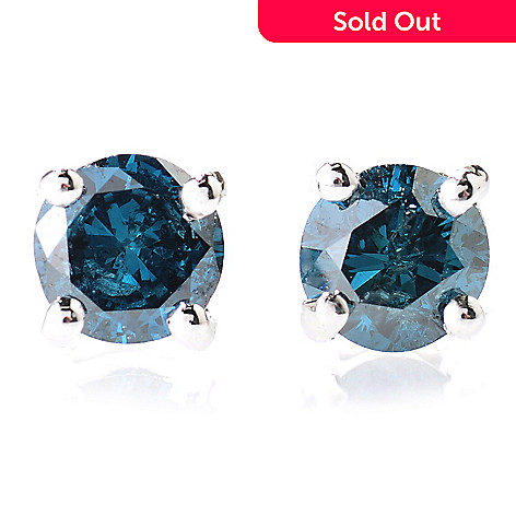 131-073 - Diamond Treasures® Sterling Silver 0.33ctw Fancy Color Diamond Stud Earrings