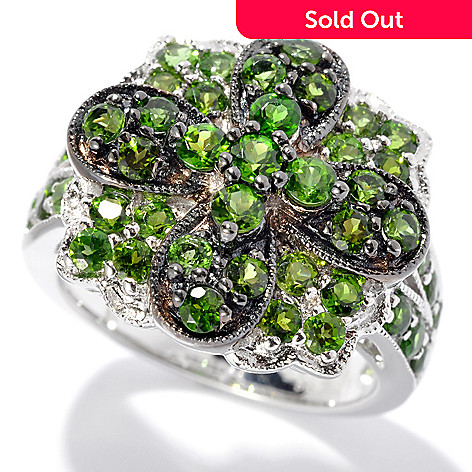 131-080 - NYC II 1.55ctw Chrome Diopside Flower Design Ring
