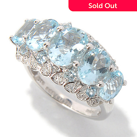 131-081 - NYC II™ 3.25ctw Aquamarine & White Zircon Ring