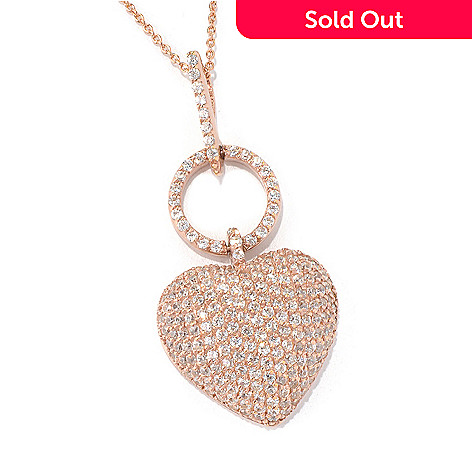 131-104 - Sonia Bitton Gold Embraced™ 5.11 DEW Simulated Diamond Heart Pendant