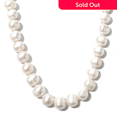 131-122 - Artisan Silver by Samuel B. 18'' White Freshwater Cultured Pearl Toggle Necklace