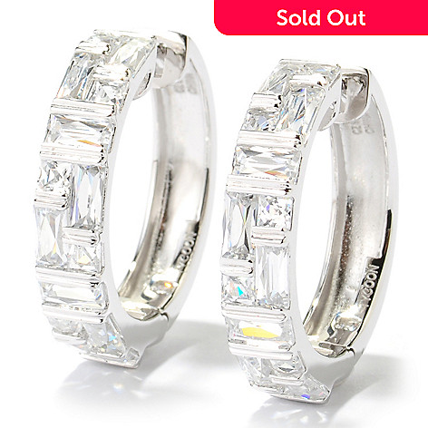 131-136 - TYCOON 1'' 4.12 DEW Tension Set Simulated Diamond Hoop Earrings