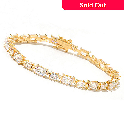 131-141 - TYCOON Alternating Rectangle Cut Simulated Diamond Line Bracelet